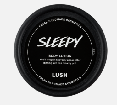 sleepy body lotion lush